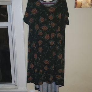 "LuLaRoe ""Digital Rose"" Print Carly Dress"